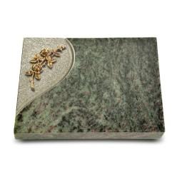 Grabtafel Tropical Green Folio Rose 5 (Bronze)