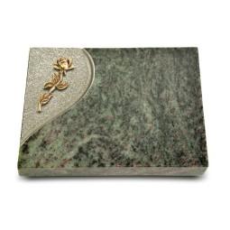 Grabtafel Tropical Green Folio Rose 7 (Bronze)