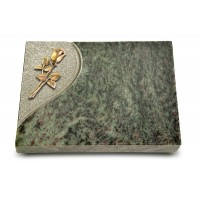 Grabtafel Tropical Green Folio Rose 8 (Bronze)