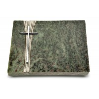 Grabtafel Tropical Green Strikt Kreuz 2 (Alu)
