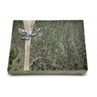 Grabtafel Tropical Green Strikt Taube (Alu)