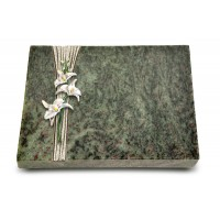 Grabtafel Tropical Green Strikt Orchidee (Color)
