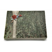 Grabtafel Tropical Green Strikt Rose 1 (Color)