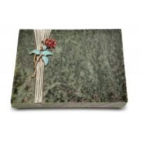 Grabtafel Tropical Green Strikt Rose 2 (Color)