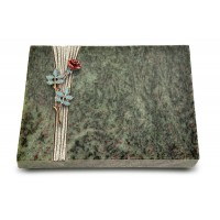 Grabtafel Tropical Green Strikt Rose 4 (Color)