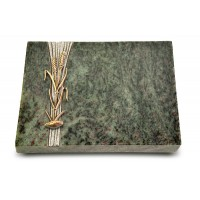 Grabtafel Tropical Green Strikt Ähren 2 (Bronze)