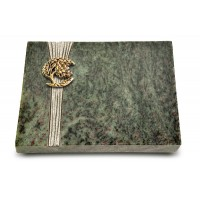 Grabtafel Tropical Green Strikt Baum 1 (Bronze)