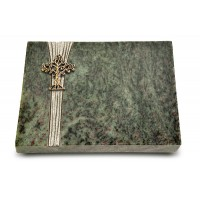 Grabtafel Tropical Green Strikt Baum 2 (Bronze)