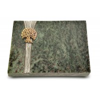Grabtafel Tropical Green Strikt Baum 3 (Bronze)