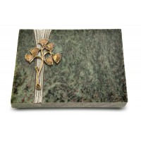 Grabtafel Tropical Green Strikt Gingozweig 1 (Bronze)