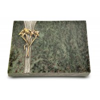 Grabtafel Tropical Green Strikt Lilie (Bronze)