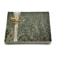 Grabtafel Tropical Green Strikt Taube (Bronze)