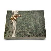 Grabtafel Tropical Green Strikt Rose 1 (Bronze)