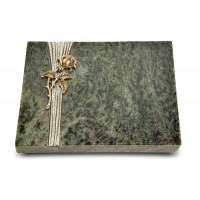 Grabtafel Tropical Green Strikt Rose 2 (Bronze)