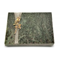 Grabtafel Tropical Green Strikt Rose 8 (Bronze)
