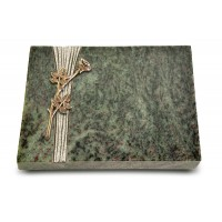 Grabtafel Tropical Green Strikt Rose 9 (Bronze)