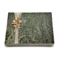 Grabtafel Tropical Green Strikt Rose 11 (Bronze)