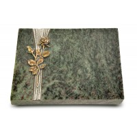 Grabtafel Tropical Green Strikt Rose 13 (Bronze)