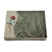 Grabtafel Tropical Green Wave Rose 2 (Color)