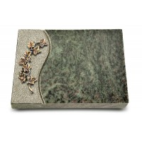 Grabtafel Tropical Green Wave Efeu (Bronze)