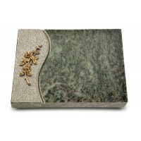 Grabtafel Tropical Green Wave Rose 5 (Bronze)