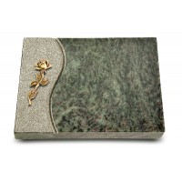 Grabtafel Tropical Green Wave Rose 7 (Bronze)
