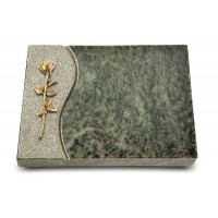 Grabtafel Tropical Green Wave Rose 12 (Bronze)