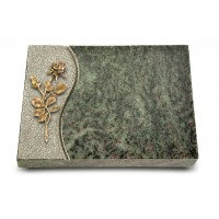 Grabtafel Tropical Green Wave Rose 13 (Bronze)