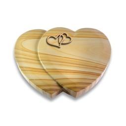 Amoureux/Raw-Silk Herzen (Bronze)