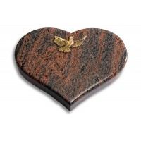 Coeur/Twilight-Red Papillon (Bronze)