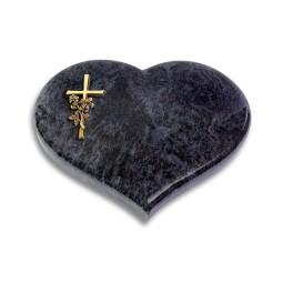 Coeur/Kashmir Kreuz/Rose (Bronze)