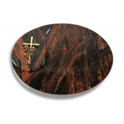 Yang/Indisch-Impala Kreuz/Rose (Bronze)