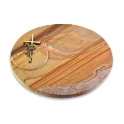 Yang/Paradiso Kreuz/Rose (Bronze)