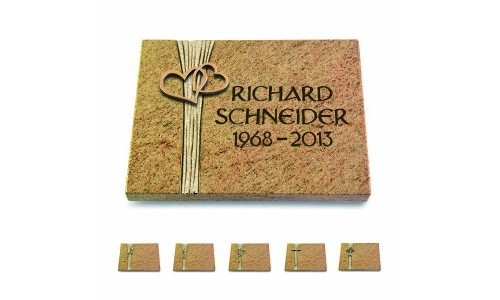 Kashmir/Strikt mit Bronze-Ornament