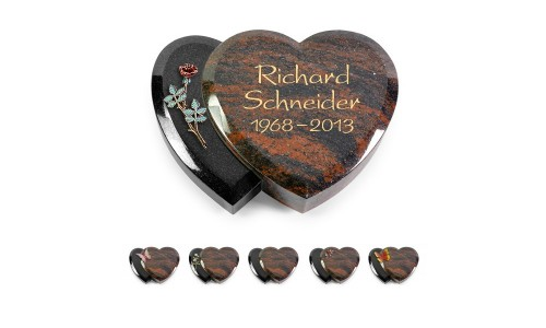 Amoureux/Aruba-Indisch Black mit Color-Bronze-Ornament