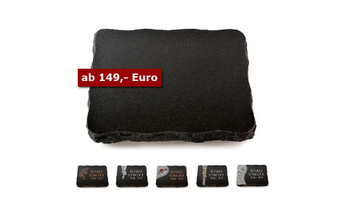 Grabplatten in Indisch Black